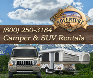 Adventure Camper - RV Camper Rentals in Yellowstone.