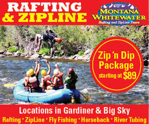 Yellowstone Zipline Tours - Rafting adventures on three of Montana's best rivers (Gallatin, Yellowstone & Madison), plus horseback riding near Gardiner and Big Sky/Bozeman. Zipline tours also available in both locations (new in 2014).