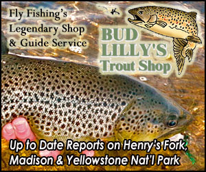 Bud Lilly's Trout Shop - since 1950 - West Yellowstone's legendary fly shop and outfitter since 1950, we're experts on all Yellowstone Park waters (Madison & Yellowstone) plus the Henry's Fork in Idaho and Gallatin River around Big Sky. Local knowledge makes a big difference in your angling success. Come get it from us.