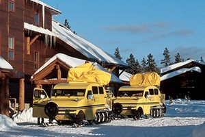 Yellowstone National Park Lodges - Snowcoach Tours :: Travel by snowcoach to Yellowstone's remote and spectacular winter gems in search of wildlife, steaming thermal features, grand winter views and the true winter wilderness.