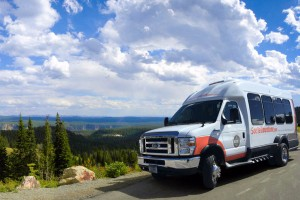 SeeYellowstone Tours :: With state-of-the-art AWD vans, our motorcoaches get you to the heart of Yellowstone's attractions, lodging & wildlife in warmth, easy access, and style. Low prices too.