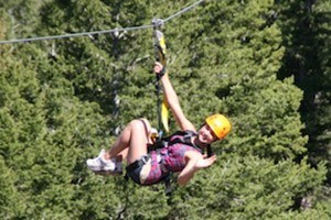 Yellowstone ZipLine Tours - 2 Locations near YNP :: River-crossing zips, sky bridges, tree platforms and more on these aerial guided tours! Locations in Gardiner & N of Big Sky. ZIP 'N DIP Packages (raft/zip) starting at $87!
