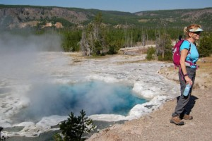 Easy Hiking Tours among the Parks best Geysers : Wildlife hiking safaris to the Lamar Valley and Lone Star Geyser. Tours include expert guides, spotting scopes, packs, trekking poles, bear spray, and gourmet lunch.