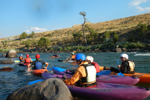 Yellowstone Raft Co - Kayak Trips :: Celebrating 40 years, the originators of raft trips down the Yellowstone River in Gardiner. Choose scenic, whitewater, kayaking, paddle/saddle horseback and Cowboy Cookouts.