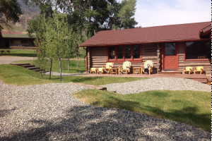 Yellowstone cabins at Double Diamond X Dude Ranch