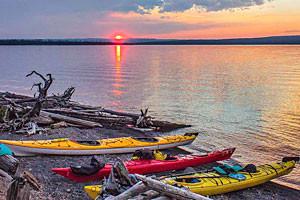 Overnight Yellowstone Lake Kayak Tours - RR Sports