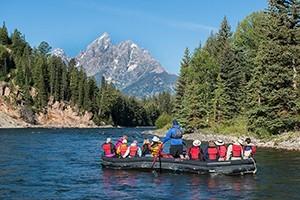 National Park Float Trips - under the Teton Peaks