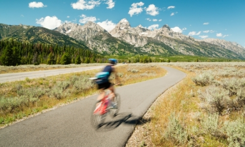 Biking Jackson and Grand Teton Park
