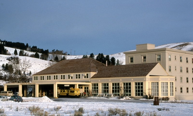 mammoth hot springs hotel cabins yellowstone alltrips