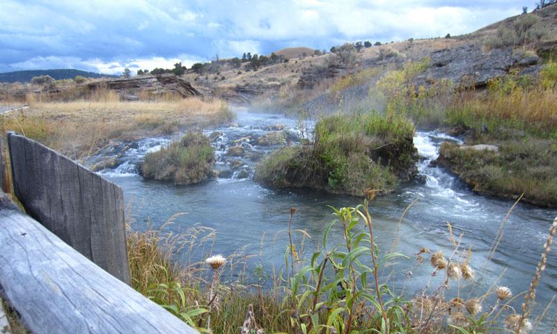 The Boiling River near Mammoth Hot Springs