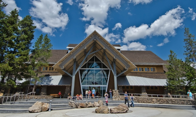 Old Faithful Visitor Education Center in Yellowstone