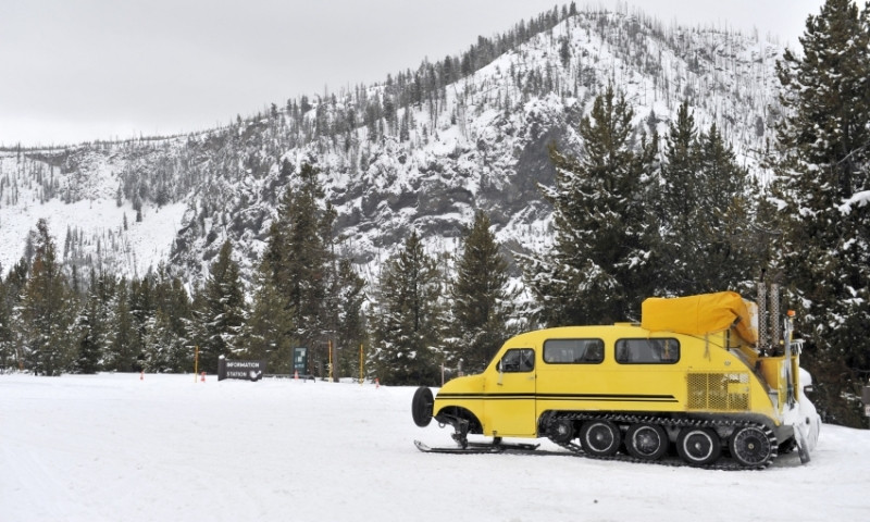 Yellowstone National Park Wyoming Winter Snow Snowcoach