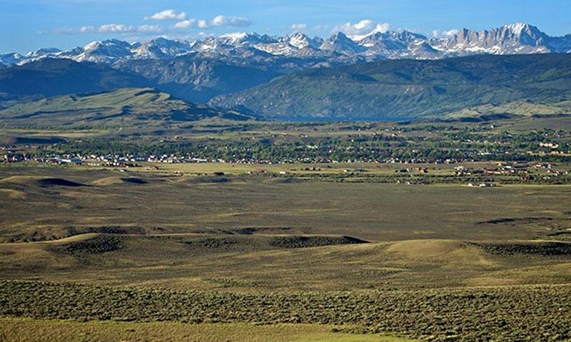 Looking over Pinedale Wyoming