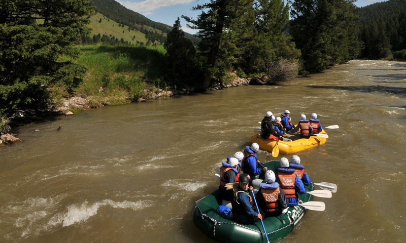 Scenic Float along the Gallatin River near Big Sky