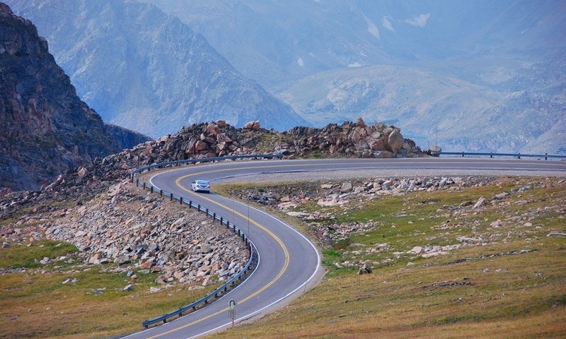 Driving Beartooth Pass Scenic Highway