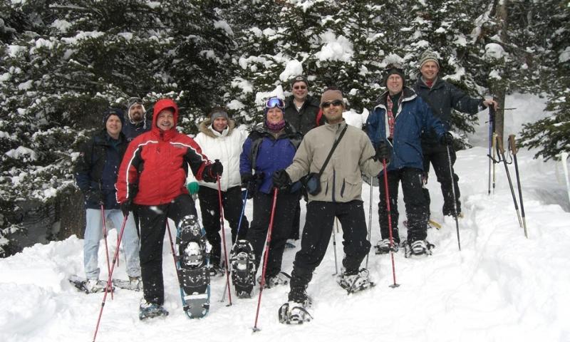 Snowshoeing Yellowstone