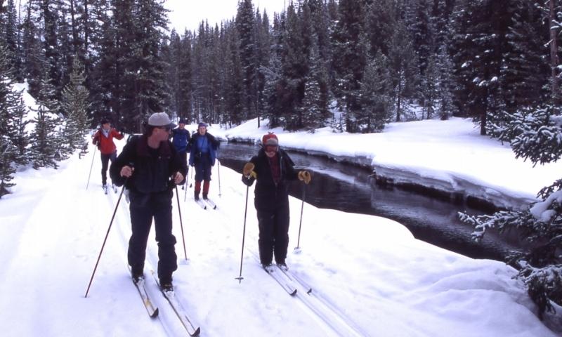 Snowshoeing Winter Yellowstone