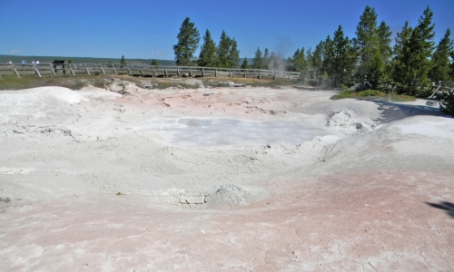 Yellowstone national park fountain paint pot