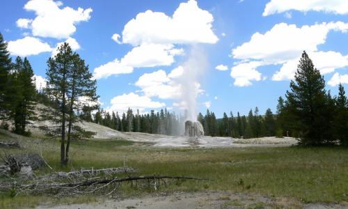 Lone Star Geyser in Yellowstone