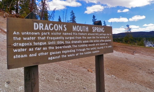 Dragons Mouth Spring Yellowstone