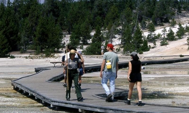 Norris Geyser Basin Yellowstone Boardwalk Trail