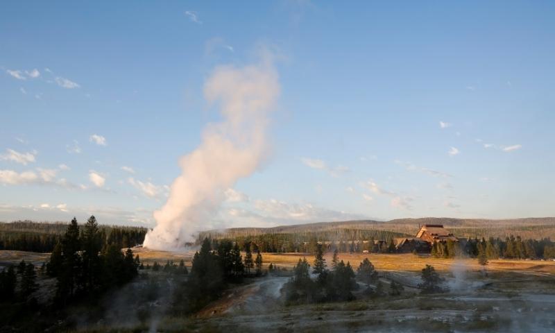 Old Faithful in Yellowstone