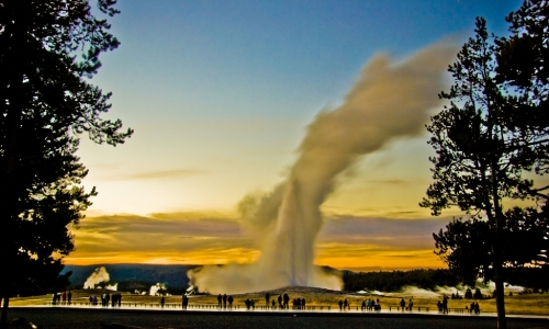 Old Faithful Geyser Yellowstone Park