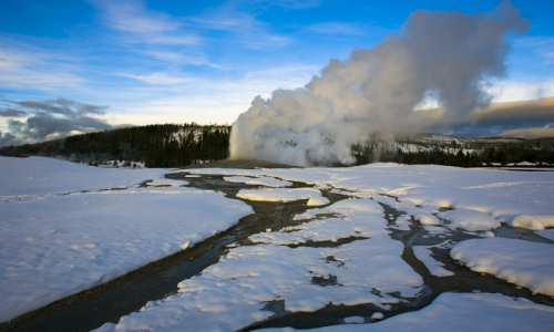 Old Faithful in Winter