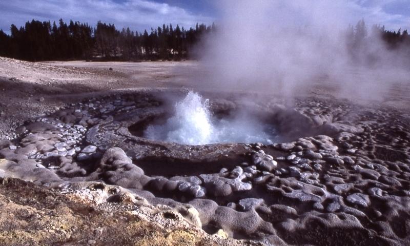 Sulphur Caldron Yellowstone National Park