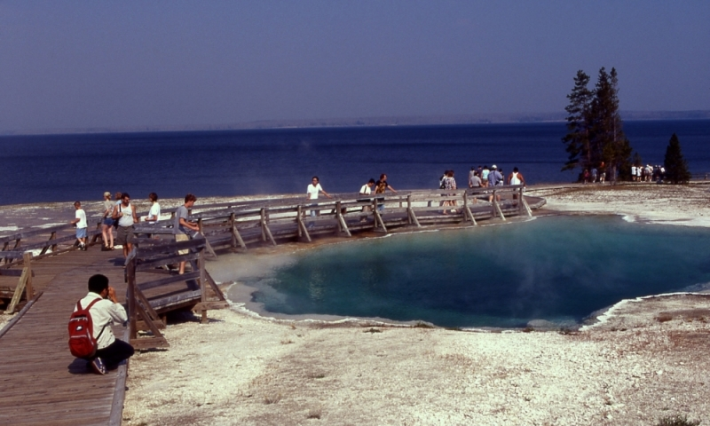 West Thumb Geyser Basin Yellowstone Black Pool