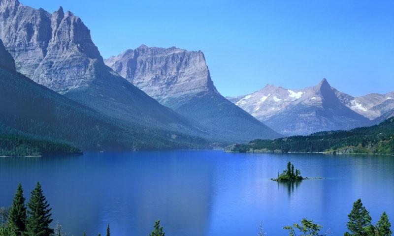 Glacier National Park St Mary Lake