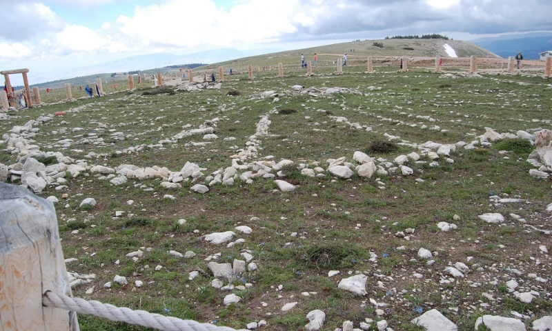 Medicine Wheel in the Big Horn Mountains in Wyoming