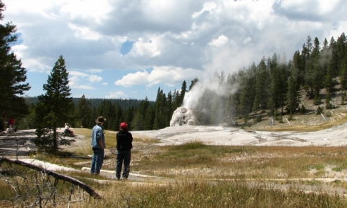Yellowstone Park Trails Lone Star Geyser