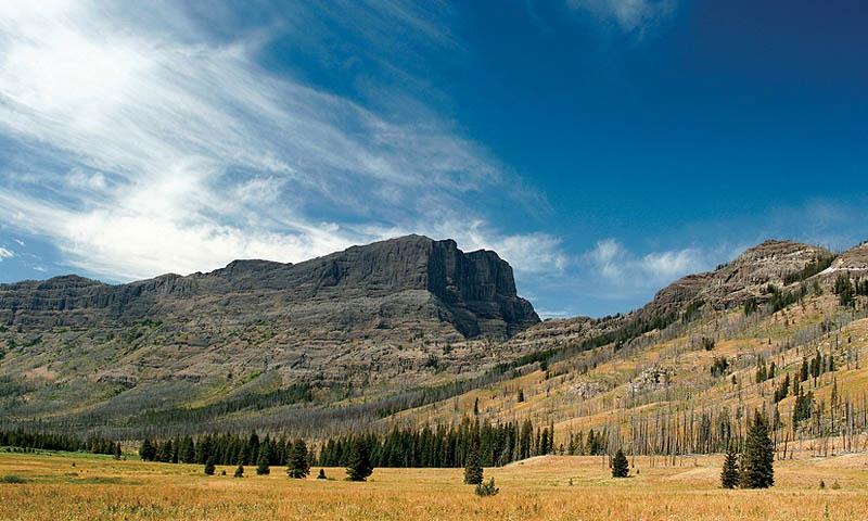Yellowstone National Park Wyoming Hiking Trail Tower Roosevelt Pebble Creek Trail Cutoff Mountain
