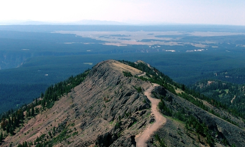 Mount Washburn Trail in Yellowstone National Park