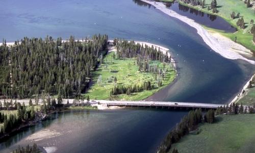 Yellowstone lake village fishing bridge bridge bay for Fishing bridge rv park yellowstone