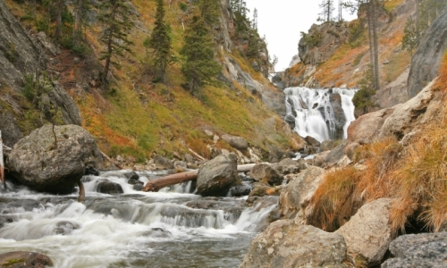 Yellowstone Waterfalls Mystic