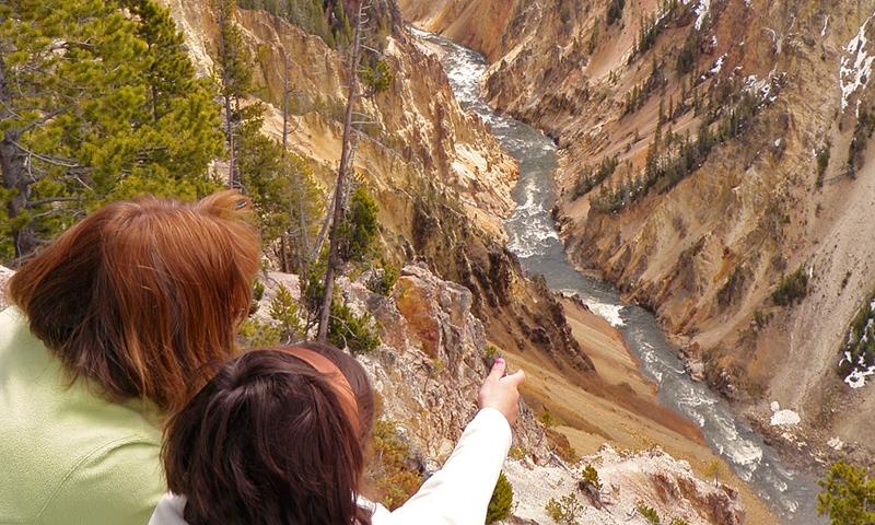Yellowstone River Waterfall Canyon