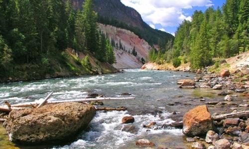 Black Canyon Yellowstone Glacier Boulder Trail