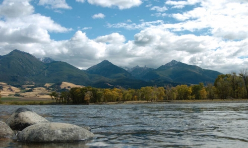 Yellowstone River in Paradise Valley