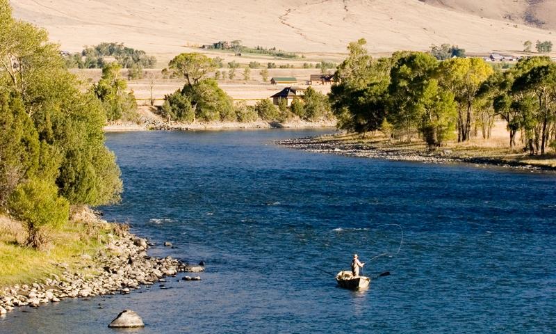 Yellowstone River Wyoming Fly Fishing Camping Boating