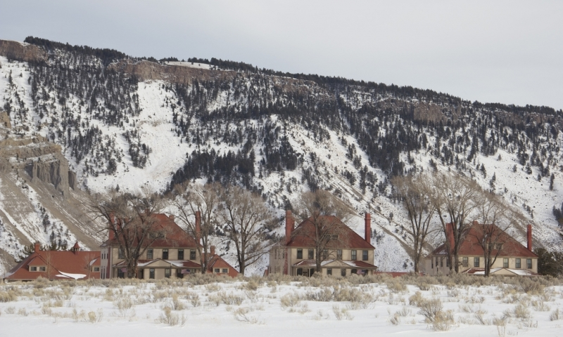 Mammoth Hot Springs Park Headquarters Fort Yellowstone