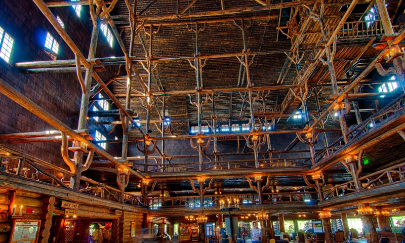 old faithful inn / hotel, yellowstone national park - alltrips