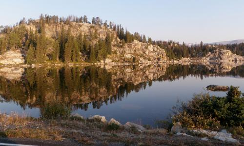 Long Lake along Beartooth Pass in Montana
