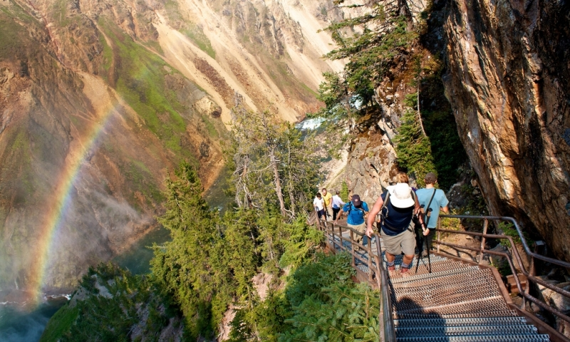 Hiking Trail at the Grand Canyon of the Yellowstone