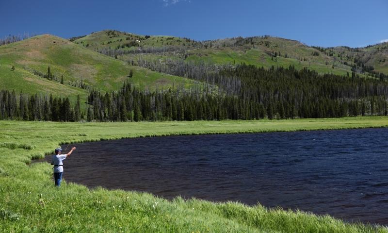 Hiking and Fishing at Cascade Lake near Canyon Village