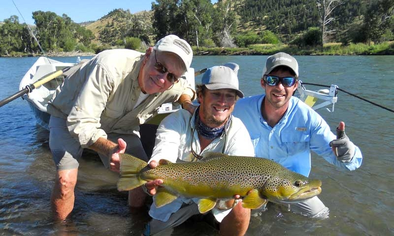 Fly Fishing Drift Boat Yellowstone River Montana Lone Peak Outfitters Guide Springdale Montana