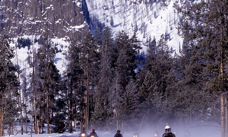 Yellowstone Snowmobile Trails