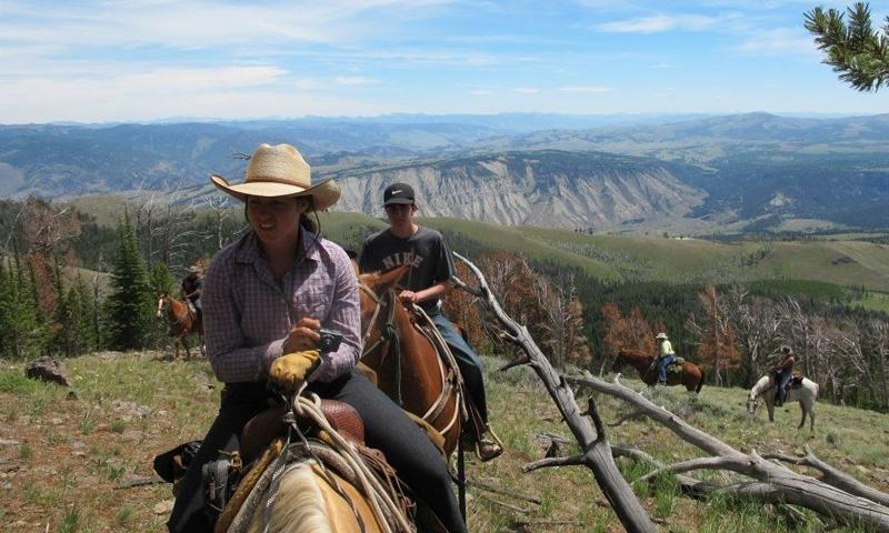 Horseback Riding Yellowstone Gardiners Hole