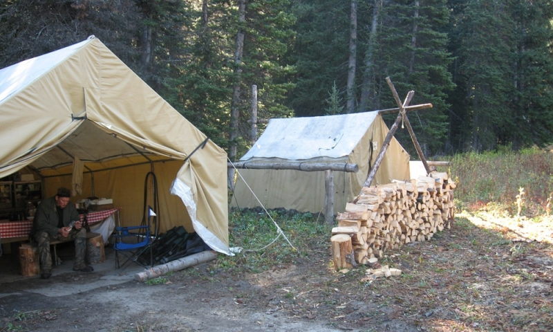Horse Pack Camp Backcountry Jackson Wyoming Trip Hunting